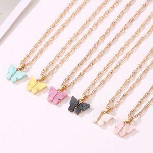 🦋NEW Butterfly Gem Necklace Korean Trend